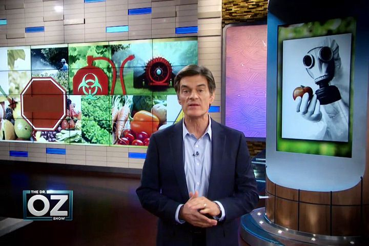 "This links to the Dr. Oz Show episode: ""What the Food Industry Doesn't Want You to Know"" about pesticides and GMOs."