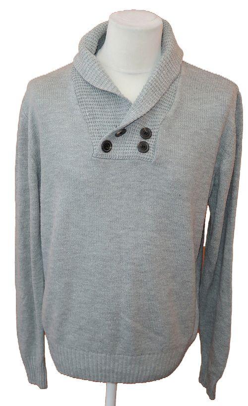 BRUMLA.CZ – Značkový dětský a dospělý second hand a outlet, použité oděvy pro děti a dospělé - Pánský šedý svetr zn. Peacocks vel. M