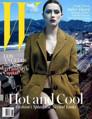 Amber Heard Covers W Magazine, Talks Engagement to Johnny Depp: Pic - Us Weekly