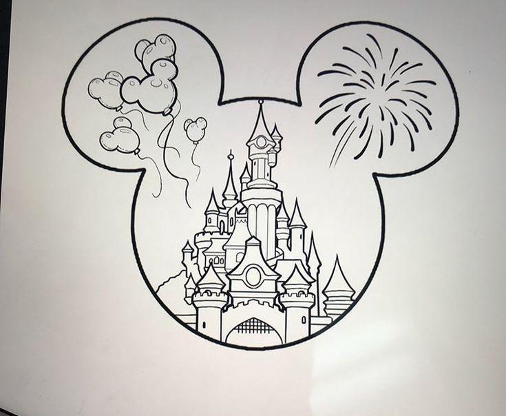 Disney Castle Tattoo – #DisneyPicture Drawing #Disneycomic Draftsman #DisneyCartoon