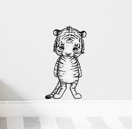 Tango the white tiger  Removable nursery wall stickers  www.peppapenny.com  Shop 3, 1642 Anzac Ave  North Lakes, QLD 4509
