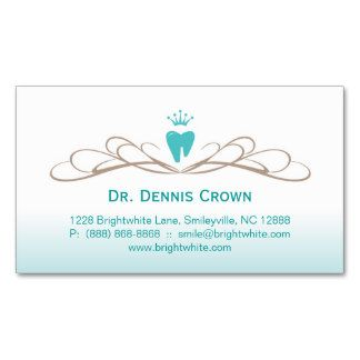 Dental Business Card Swirl Tooth Logo Blue Brown