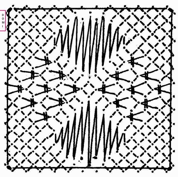 Pour ce nouveau carré, toujours sur un fond torchon, c'est une alternance de fond triangle et de grille que Dominique vous propose          ...