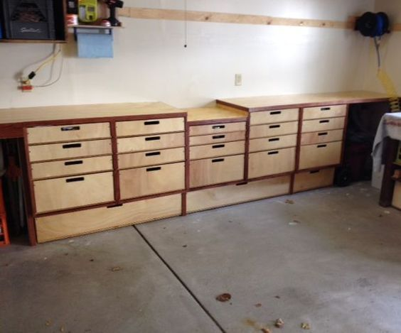 This instructable will show how to build a cheap and simple garage storage and workbench out of plywood that will allow you to store all of your tools or gear ...