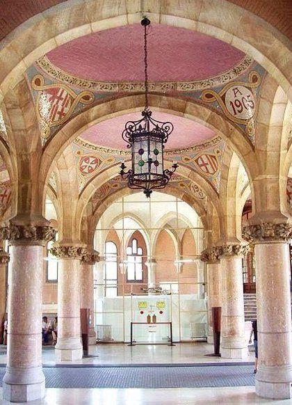 Beautiful Hospital de Sant Pau in Barcelona #arquitecture #modernism #barcelona #beautiful #pastels