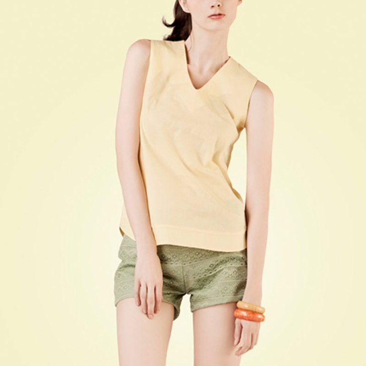 POPLIN Vest Top Yellow