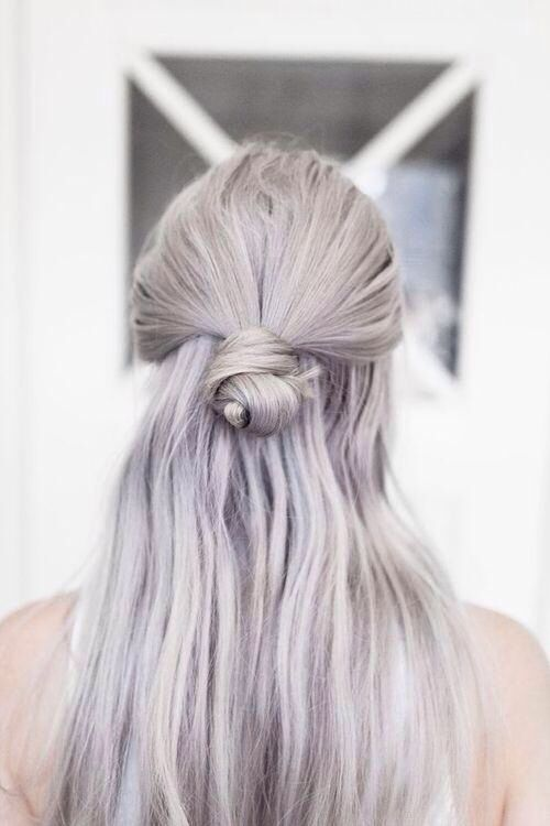 Violet iridescent blonde