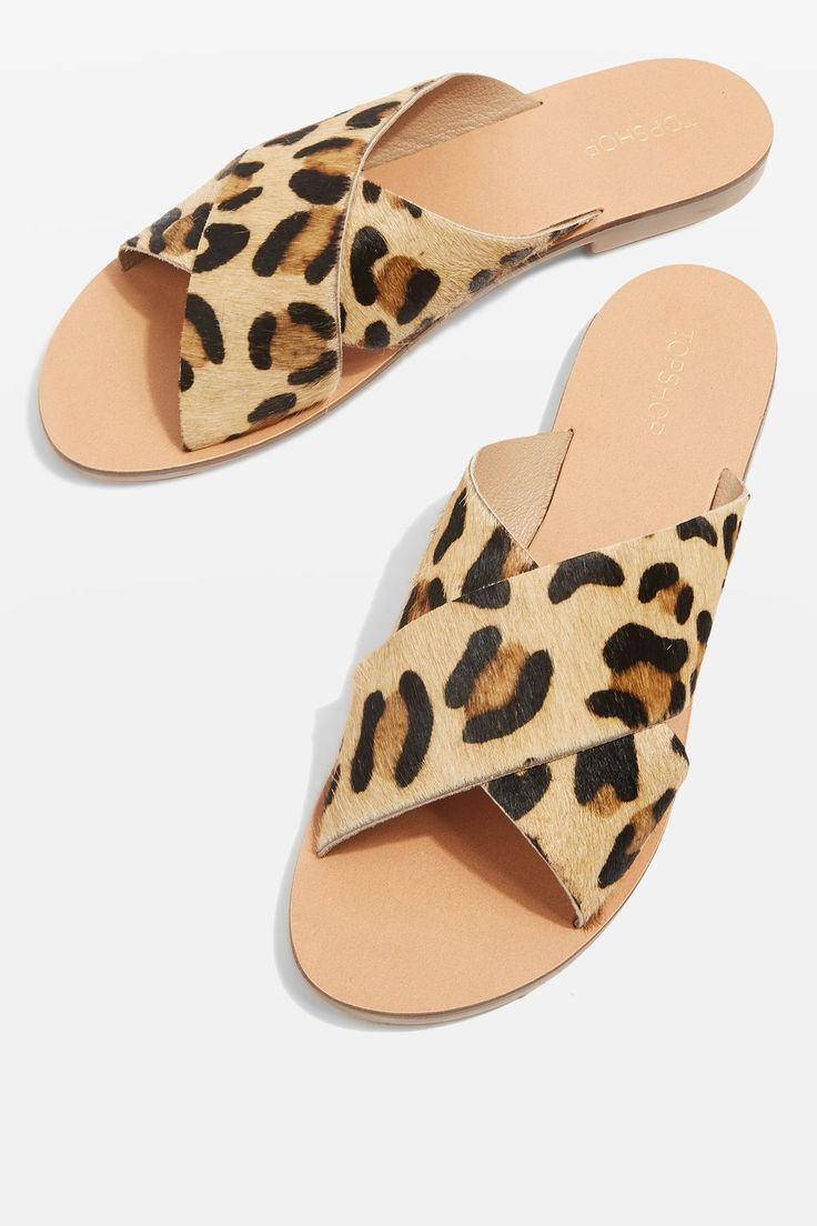 7.5 HOLIDAY Cross Strap Leopard Sandals