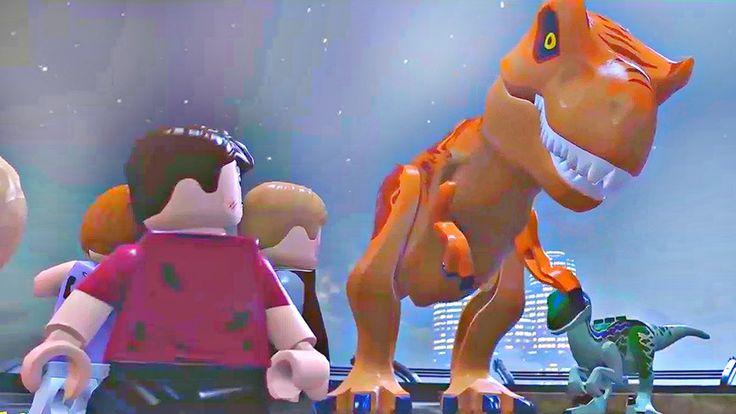 Lego Jurassic World.Тирекс за Людей.Игры Мультики про Динозавров.Парк Юр...