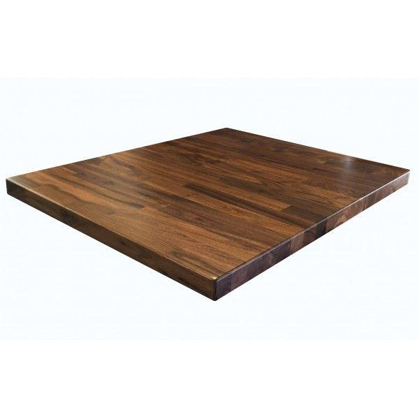 Industrial Restaurant Tabletops 24 Square Black Walnut Butcherblock Table  Top