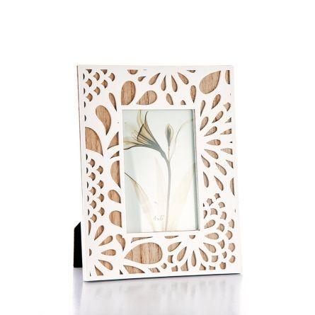 Képkeret fa-fehér virág