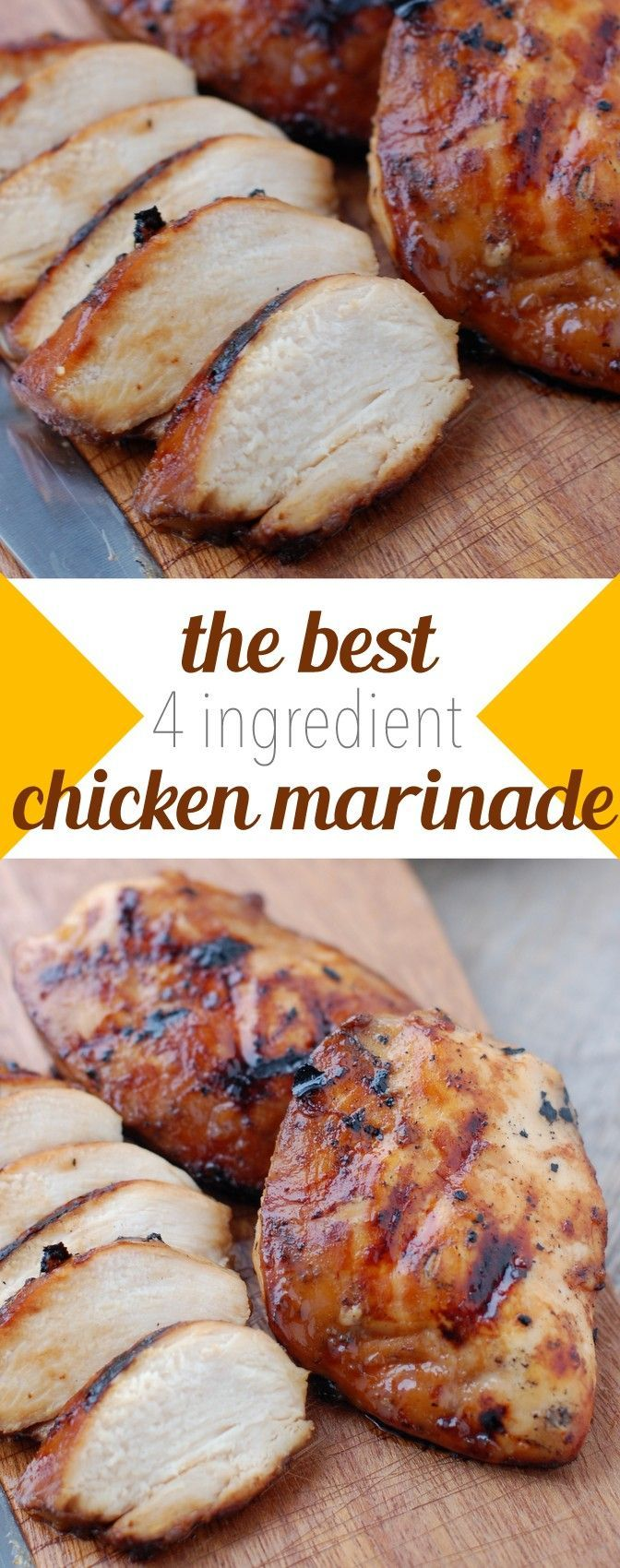 the best 4 ingredient chicken marinade | NoBiggie.net4 Ingredient Chicken Marinade:  1 cup brown sugar 1 cup oil 1/2 cup soy sauce 1/2 cup vinegar