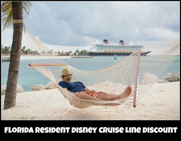 Disney Cruise Line Florida Resident Discount available on select sailings Set sail for savings on this cruise vacation and receive a shipboard credit too