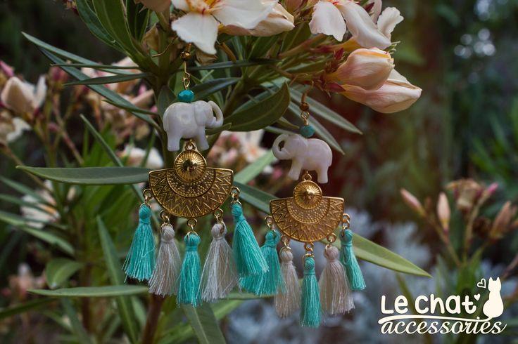 Τα αγαπημένα μου ethnic σκουλαρίκια!!! <3 Νομίζω δεν χρειάζεται να το πω πως φορώντας τα δεν θα περάσετε απαρατήρητες!  Συνδυάζοντάς τα κατάλληλα, μπορείτε να πετύχετε το ιδανικό boho style! ;)  Αποτελούνται από μεταλλικές λεπτομέρειες σε χρυσή απόχρωση που είναι faux.  #lechataccessories #handmadecreations #newearrings #bohochic #bohemianmood #ethnicjewelry #elephantearrings #pastelcolours #bohostyle  © Danae Lolou  Find me on Facebook & Instagram : Le Chat Accessories for more photos…