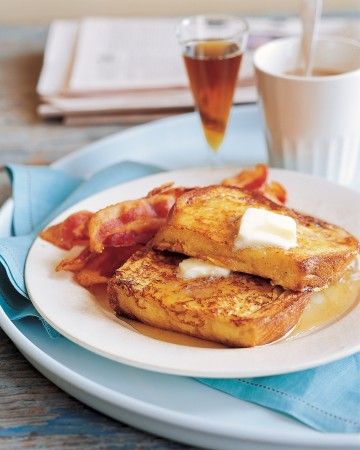 """French toast is known in France as pain perdu, which translates to """"lost bread,"""" because it makes delicious use of stale or leftover bread. Once you've mastered the basic French toast recipe, a range of possibilities opens up. Try one of these French toast recipes, from apricot-stuffed French toast to baked French toast with raspberry sauce."""