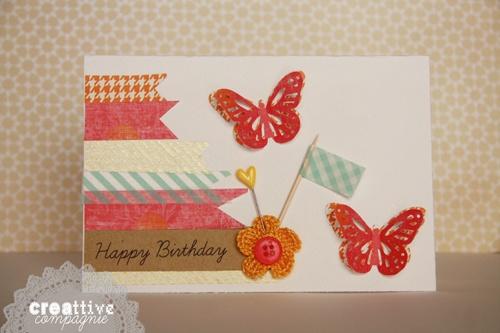 creattive compagnie: Biglietto compleanno - Farfalle#2 - birthday card - butterfly
