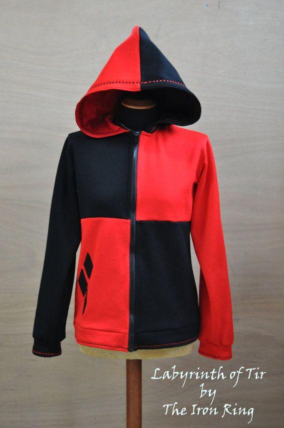 Harley Quinn Hoodie Plus Size Sweatshirt Geeky by LabyrinthofTir