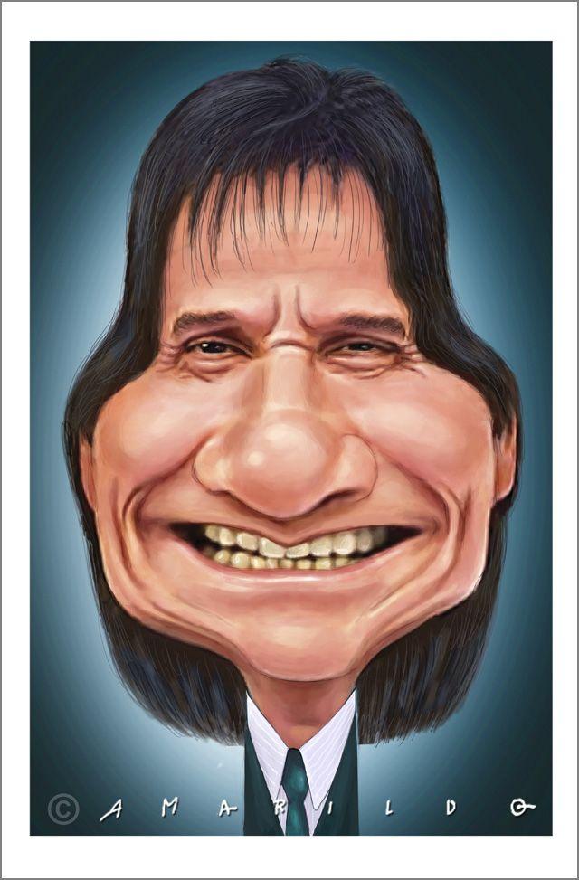 Roberto Carlos . Caricatura . Amarildo