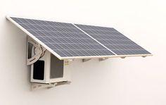 Solar power -                                                      Solar powered air conditioner