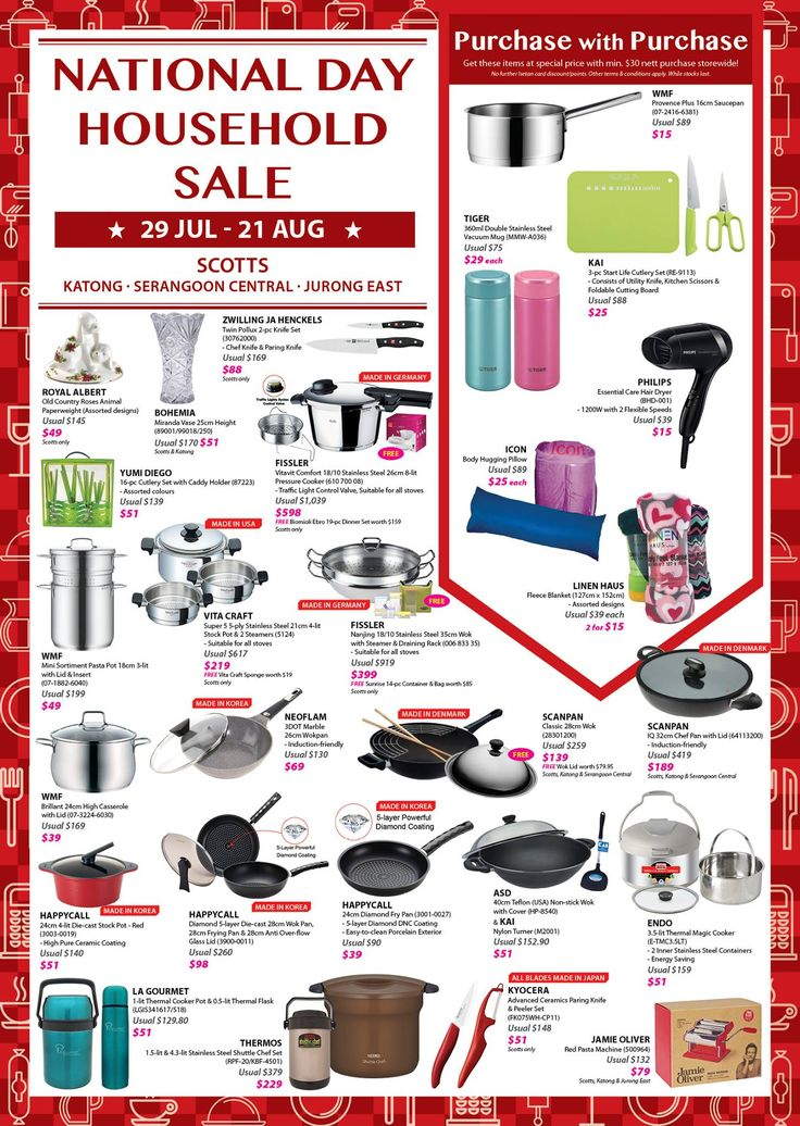 Isetan National Day Household Sale Singapore Promotion 29 Jul to 21 Aug 2016 | Why Not Deals
