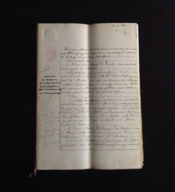 Reserve For Chouxalacreme 1877 Antique Handwritten