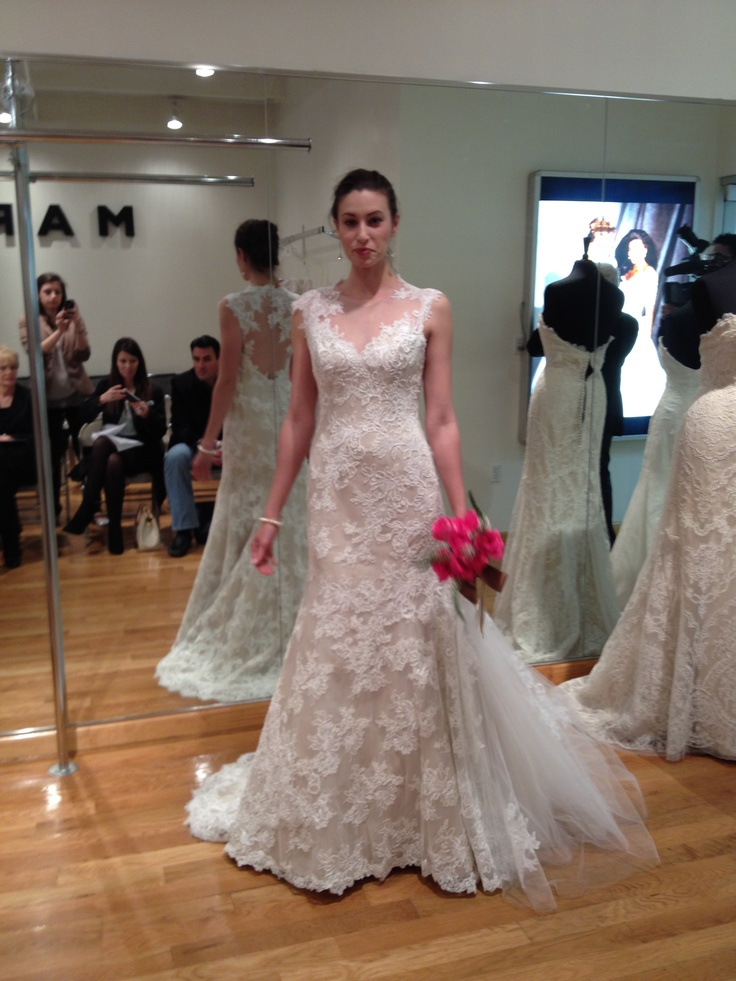 Marisa ivory lace over champagne lining bridalmarket for Ivory champagne wedding dress
