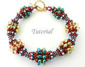 PDF for Bumps Bangle Beading Tutorial - Modified Cellini Spiral Stitch - beaded seed bead jewelry - beadweaving beading bracelet pattern. $5,75, via Etsy.
