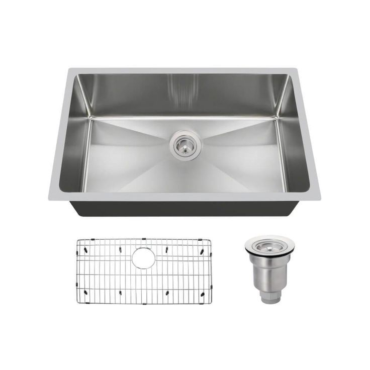 All in One Undermount Stainless Steel 31 14 in Single