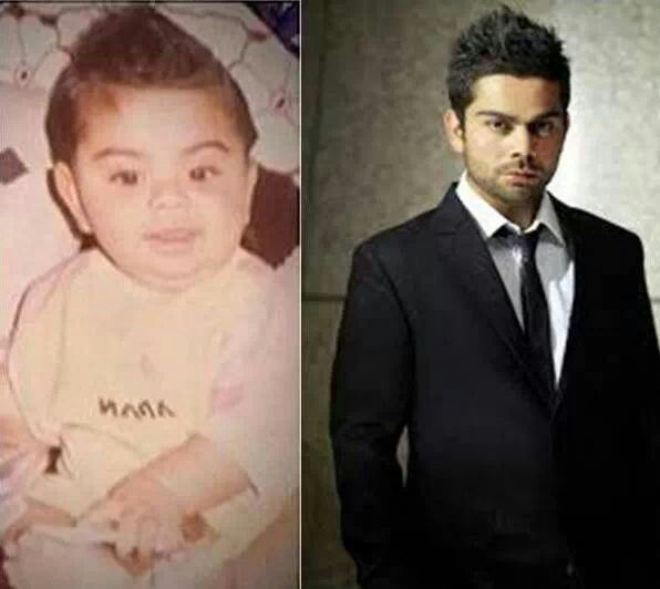 Virat Kohli's hairstyle hasnt changed much :)