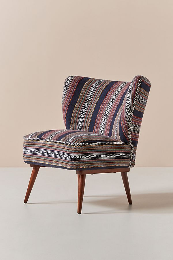 Cheyenne Striped Woven Petite Accent Chair Accent Chairs Chair