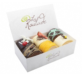 La Roulade, Box Of 6 Assorted Roulades, Shop 11, Lower Ground, QVB.