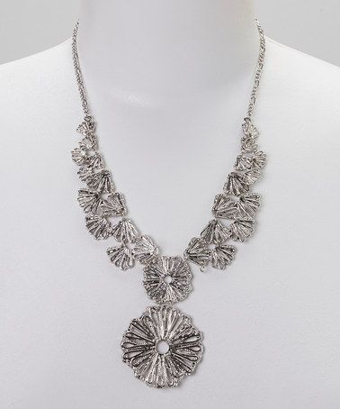 This Silver Medallion Bib Necklace by Sorta Southern Boutique is perfect! #zulilyfinds