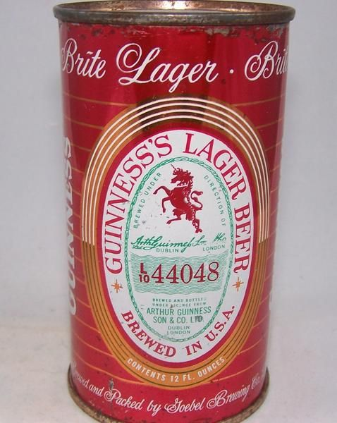 Guinness Lager Beer (Detroit) 44048, USBC 78-04. This can is all original. This may actually be the same can that is in the USBC? The can does have some imperfe