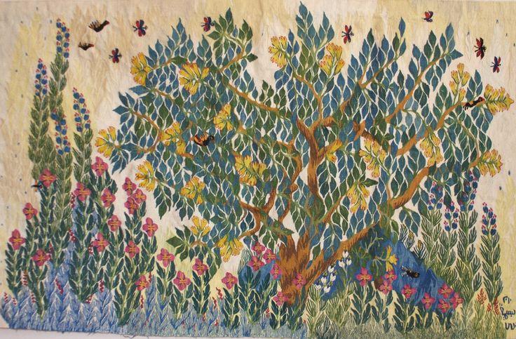 Egyptian tapestry by Ramses Wissa Wassef artist Basima Mohamed. Handwoven in Harrinia, Egypt. – Ramses Wissa Wassef Tapestries