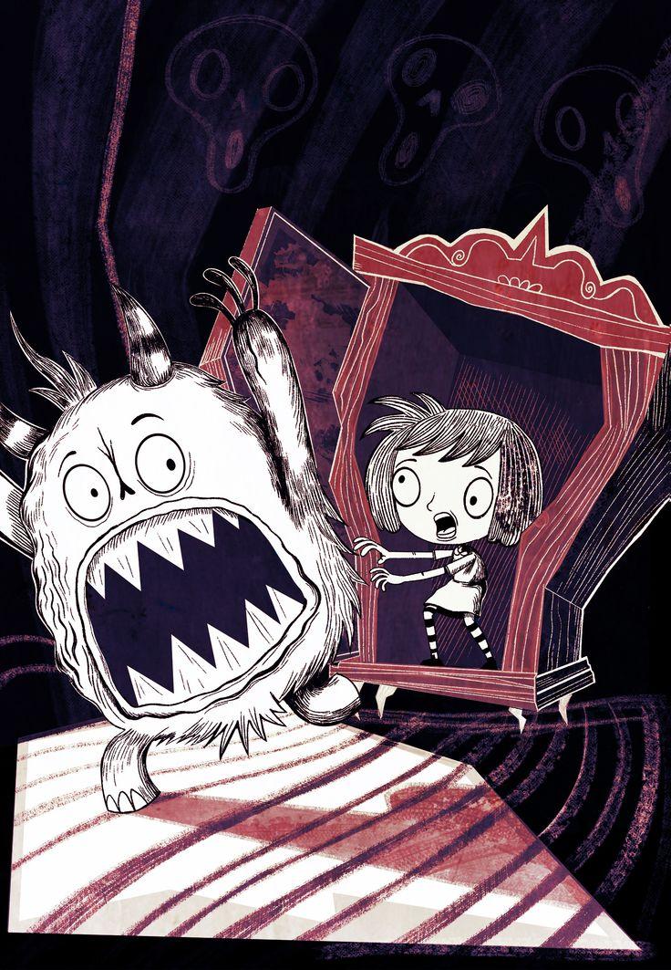 La nena que quería ser monstruo, boceto 2014 Pablo Zerda