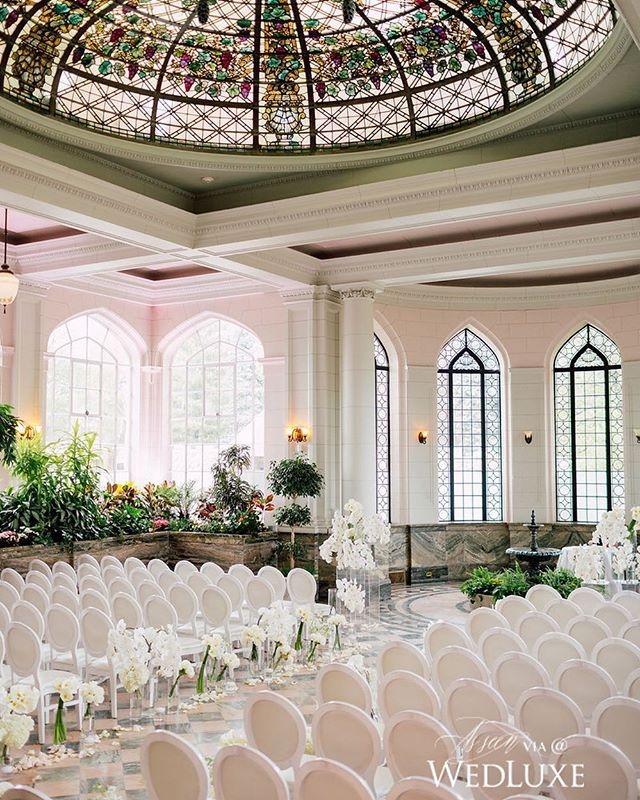 Casa Loma's conservatory was transformed into an orchid oasis for this Toronto, Canada
