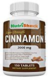 CEYLON Cinnamon 2000mg 150 Tablets - High Potency - Blood Sugar Control - Powerful Natural Antioxidant - Potent Anti-Inflammatory - Encourages Lower Cholesterol Levels - Powerful Anti-Diabetic Effect - Natural Herbal Food Supplement - https://www.trolleytrends.com/?p=457033