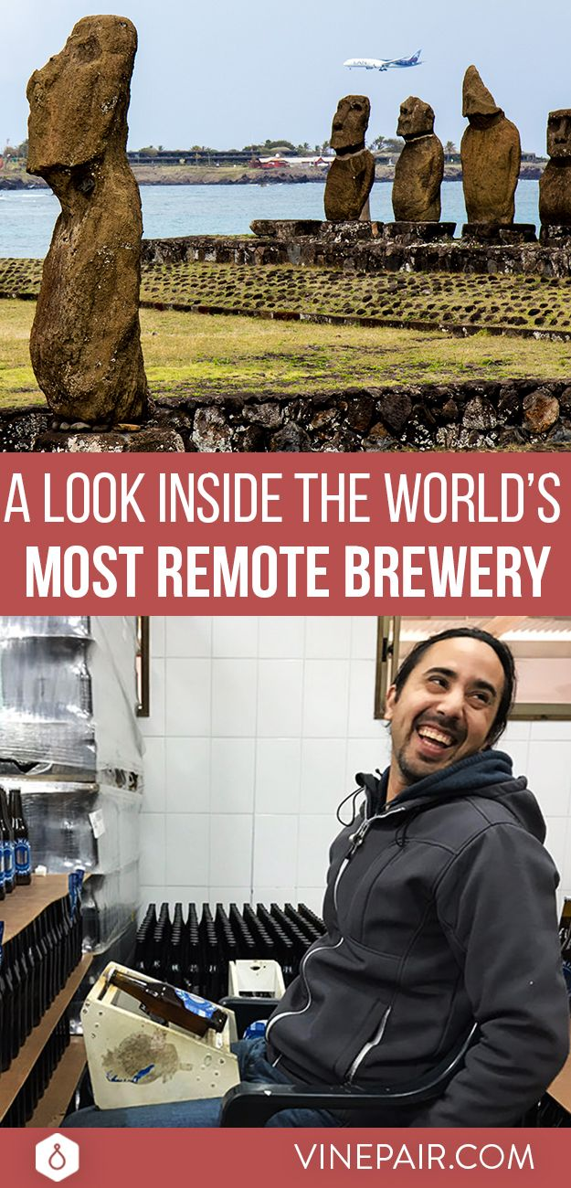 To get to Cervecería Mahina, the world's most remote brewery, your journey starts in Chile. On most days there's a single early morning flight from Santiago to Easter Island. The jet takes off, turns due west to the Pacific Ocean, and remains on that course for five and a half hours. It's nearly the same distance as a flight from New York to Los Angeles. The brewery is less than two miles from the airport — a vital link without which it could not operate.