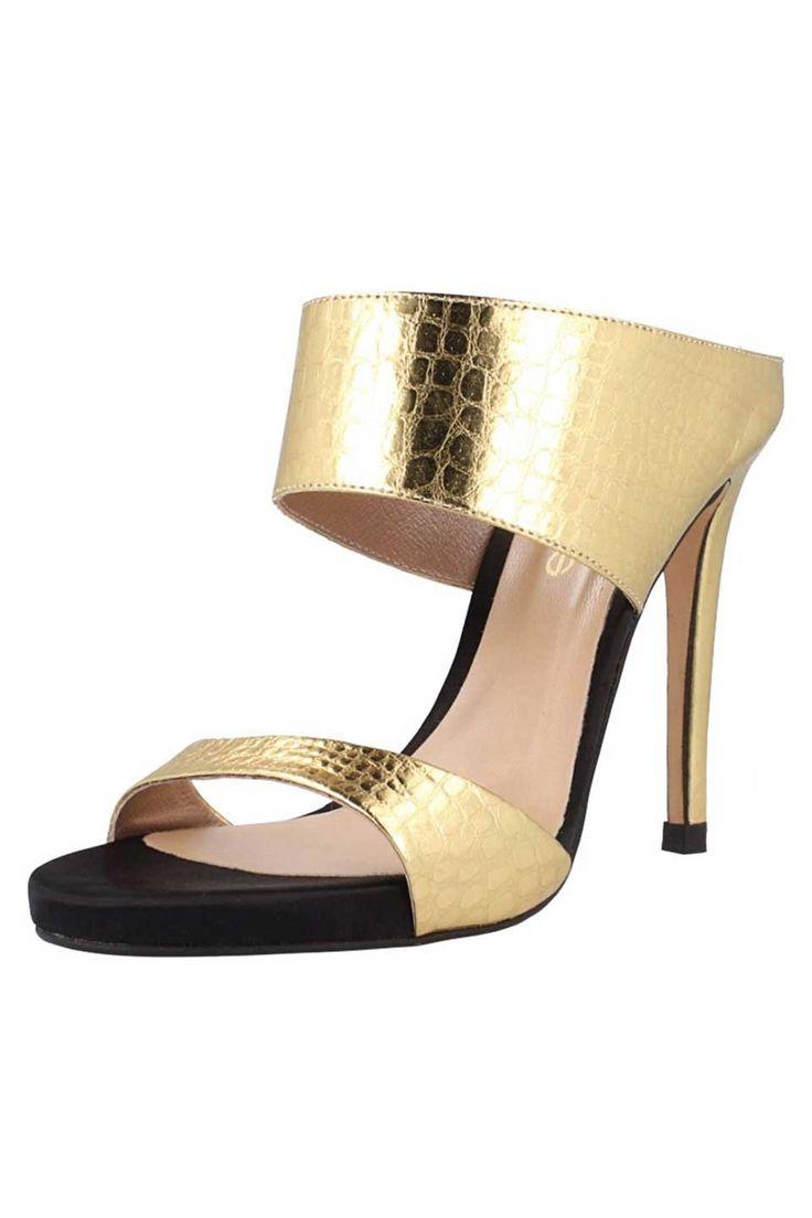 El Dantes - Cora Sandals in Gold