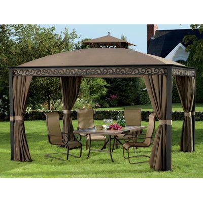 Outdoors southport 10 39 x 12 39 gazebo pool deck patio yard for Garden decking with gazebo