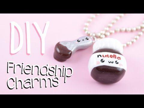 Kawaii Nutella Friendship charms polymer clay tutorial