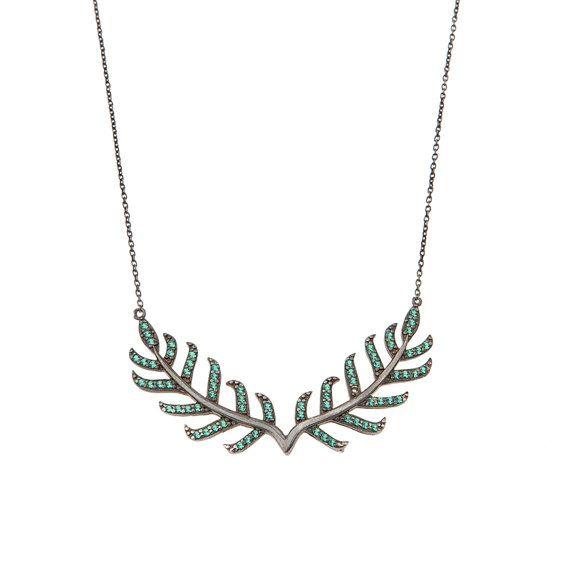 Silver 925 laurel Necklace Leaf Necklace Laurel by AntEvaCrafts