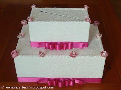 Incartesimi: Scatola portabuste (money-box) per Chiara e Marco