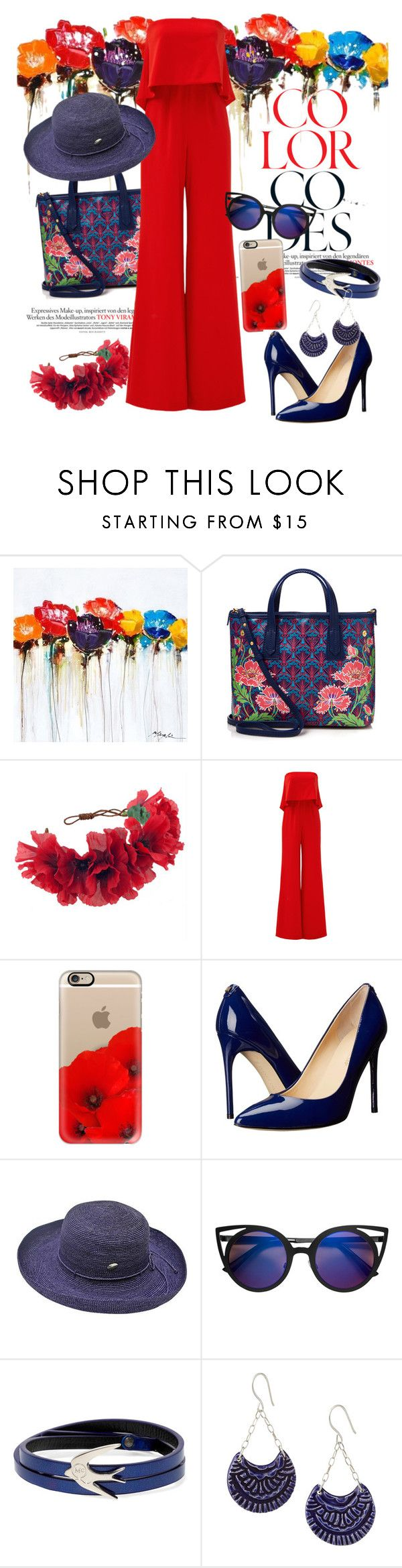 """Poppy rainbow"" by huxmay ❤ liked on Polyvore featuring Yosemite Home Décor, Liberty, Rock 'N Rose, Jay Godfrey, Casetify, Ivanka Trump, McQ by Alexander McQueen and sleevelessjumpsuits"