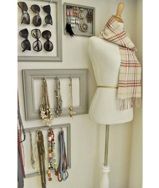 Turn your clutter into art with this unique jewelry storage hack!