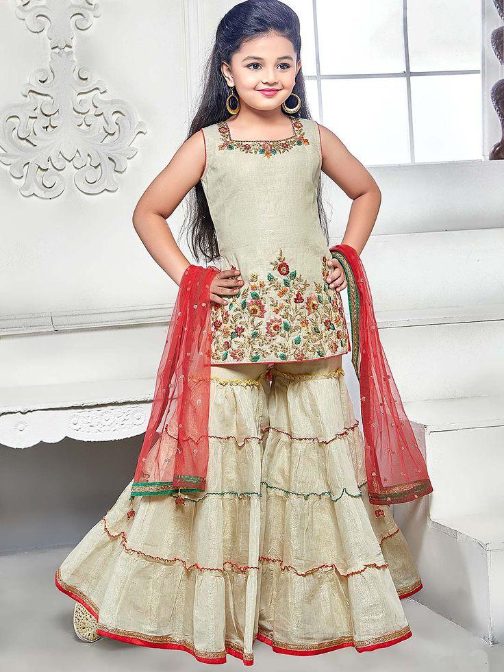 Cotton silk fabric festive punjabi sharara suit - G3-GSS1278   G3fashion.com