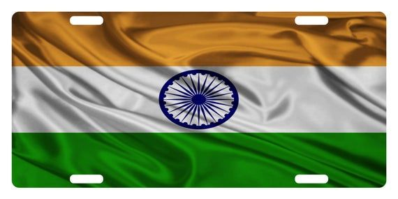 India Flag Custom License Plate Indian Emblem Wave Version In 2020 Indian Flag Wallpaper India Flag Indian Flag