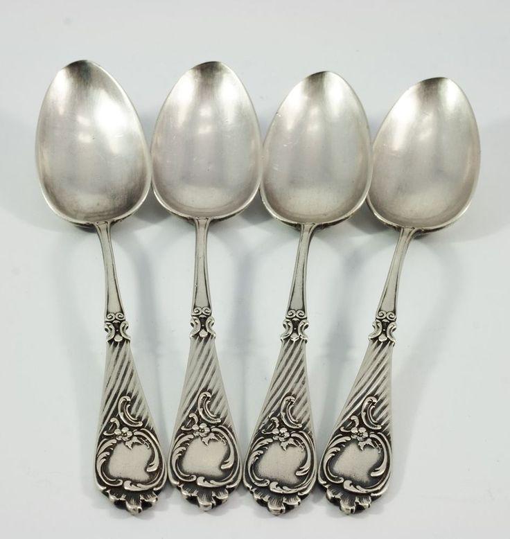 4 teaspoon. Silver 84 Zolotnik. Imperial Russia From 1890, (Master GK). #ImperialRussia1890