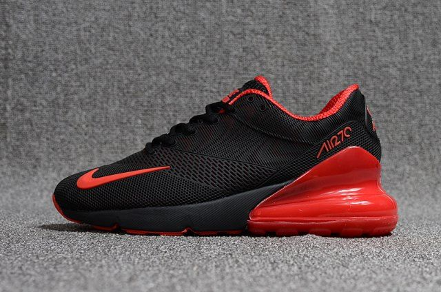 Nike Air Max Flair 270 Kpu Black Red Men S Running Shoes Nike Air Max Red Nike Slip On Tennis Shoes