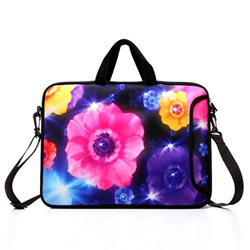 """14-Inch Laptop Shoulder Bag Sleeve Case With Handle For 13"""" 13.3"""" 14"""" 14.1"""" Netbook/Macbook Air Pro (Colourful Flower) #Inch #Laptop #Shoulder #Sleeve #Case #With #Handle #Netbook/Macbook #(Colourful #Flower)"""